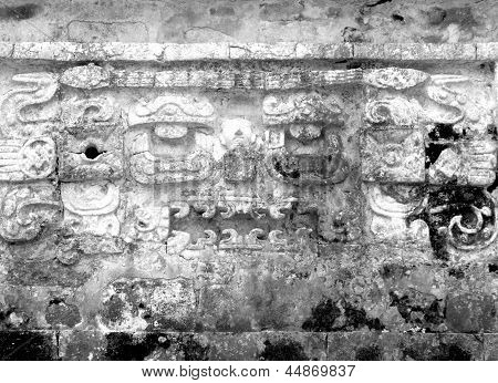 Mayan Ruins Of Chichen Itza Frieze