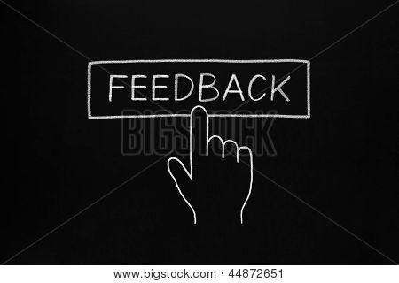 Hand Clicking Feedback Button