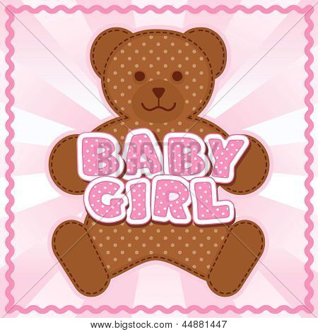 Baby Girl Teddy Bear