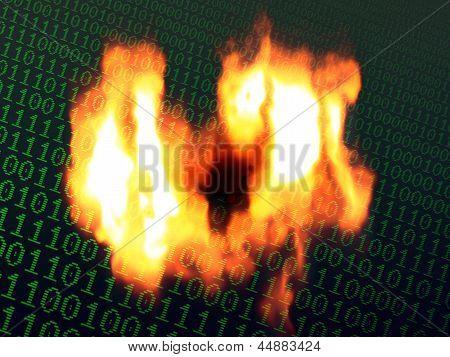 Burning Binary Background