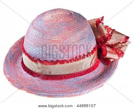 Pink Woman Summer Straw Hat