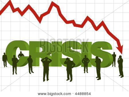 Illustration For The Concept Of Recession In World Economy