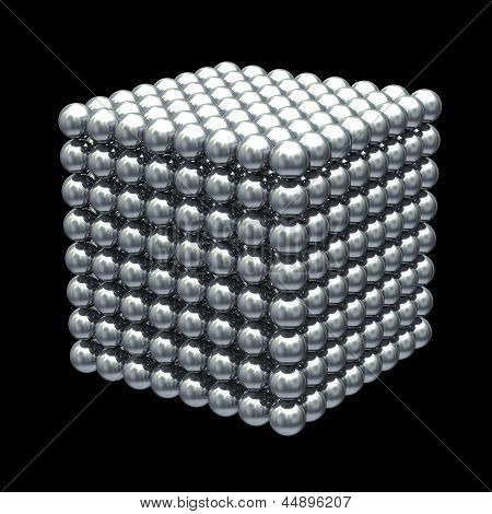 Metal Balls Cube structure