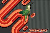 bird vector composition over a gray background poster