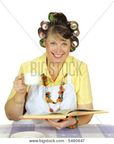 Tea Drinking Housewife