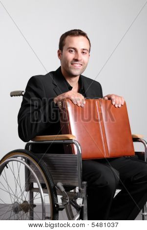 Disables Businessman In A Wheelchair