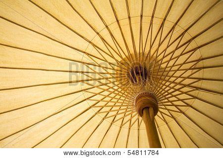 Thailand traditional bamboo umbrella