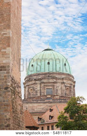 Elisabeth Church Dome In Nuremberg, Germany