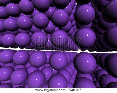 Indigo Perspective Balls Field