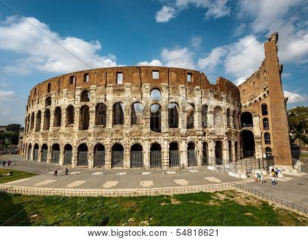 Colosseum Or Coliseum, Also Known As The Flavian Amphitheatre, Rome, Italy