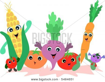 Group of Vegetable Friends