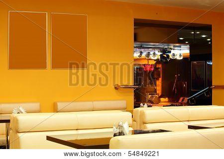 Beautiful Interior Of Modern Restaurant