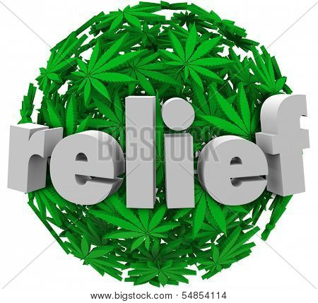 Relief Marijuana Leaf Sphere Pain Therapy