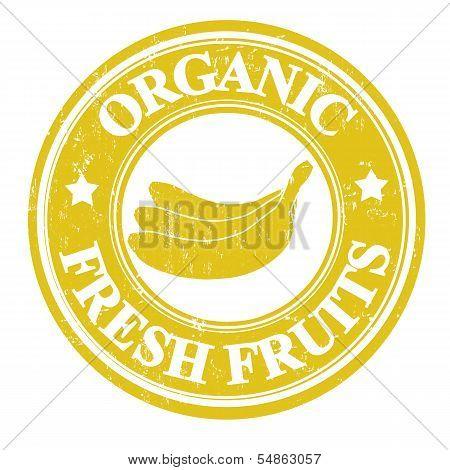 Banana Fruit Stamp Or Label