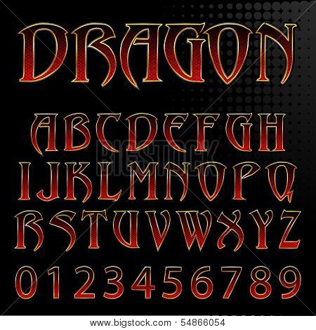 Vector Dragon Style Font