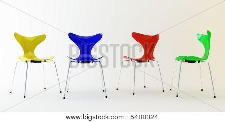 Four Modern Chairs