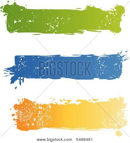 Grungy Multicolored Banner Set