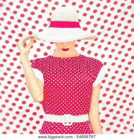 Fashion Polka Dots Woman