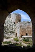 Krak des Chevaliers citadel tower fortification castle walls crusaders fortress Syria poster