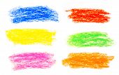 Abstract wax crayon hand drawing background set poster
