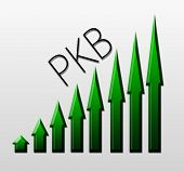 Chart illustrating PKB growth macroeconomic indicator concept poster