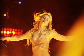 MINSK, BELARUS - MAY 14: Shakira performs at Minsk-Arena on May 14, 2011 in Minsk, Belarus.