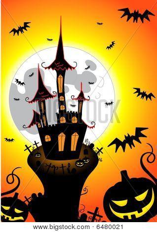 Haloween creepy castle
