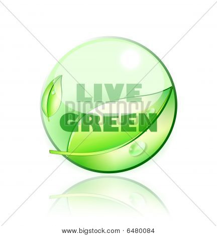 elää vihreä kuvake