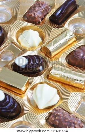 Pieces of chocolate candy
