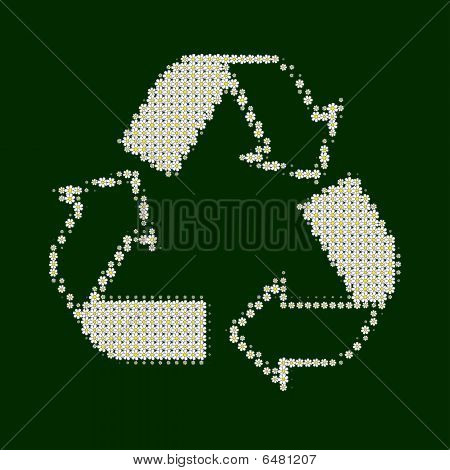 Recycle White With Green