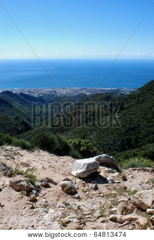 Marbella coastline, Andalusia, Spain.