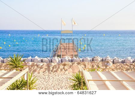 Beach in Cannes