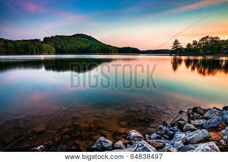 Lake Allatoona At Red Top Mountain State Park North Of Atlanta At Sunrise