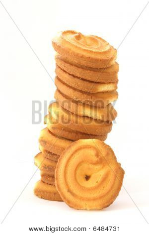 Stack Of Shortbread Butter Biscuits