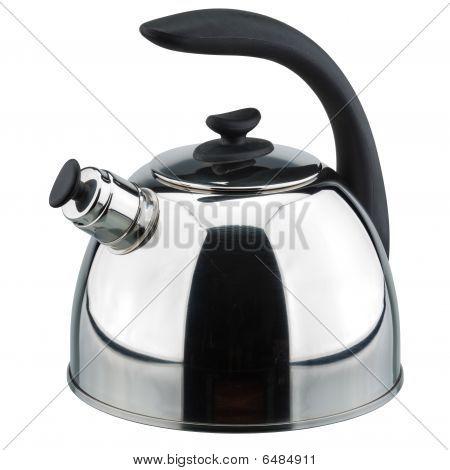 Chrome teapot