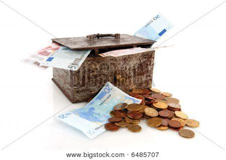 Old Rusty Money Box