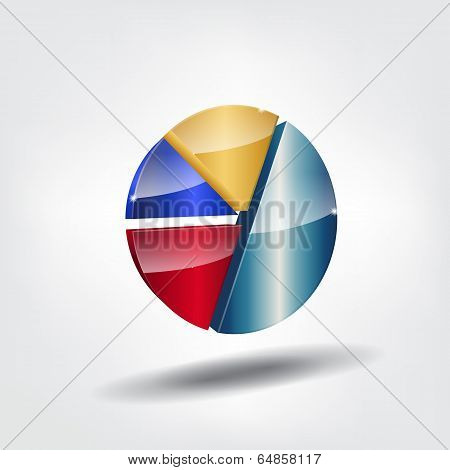 Abstract Pie Chart.