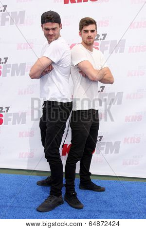 LOS ANGELES - MAY 10:  Alex Pall, Andrew Taggart, The Chainsmokers at the 2014 Wango Tango at Stub Hub Center on May 10, 2014 in Carson, CA