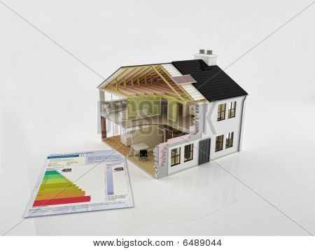 New House Construction With Energy Saving Certificate