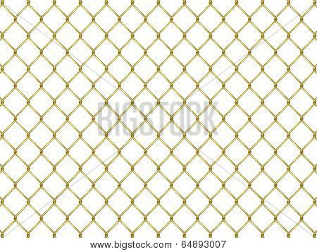 Fence From Golden Mesh