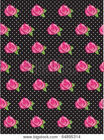 Rose Flower Pattern Dots