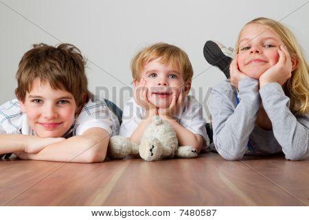 Kids On The Wodden Floor