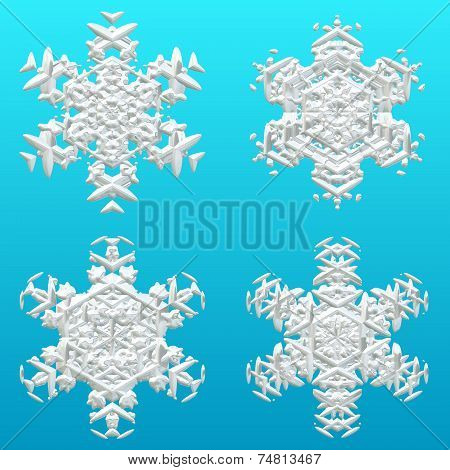 Winter Snow Or Snoflakes For Christmas Gift Paper