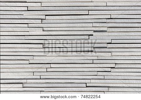 Light grey or white stone plates layers rough textured background poster