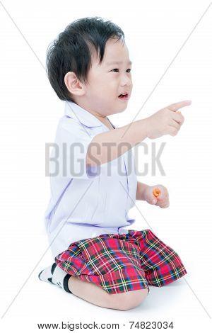 Portrait Of Happy Asian Child