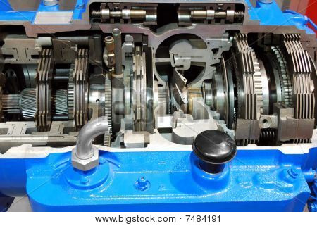 truck automatic transmission gearshift close detail