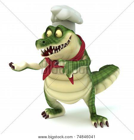 Chef croc showing pose