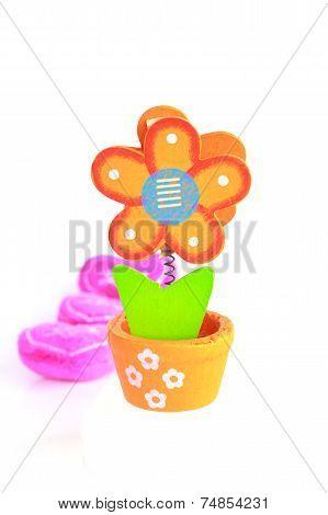 Holzblumen - Stock Image
