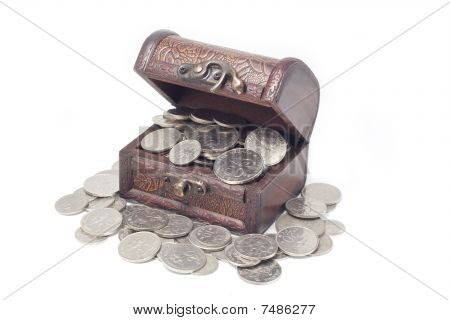 Malaysia Coins In Treasure Chest