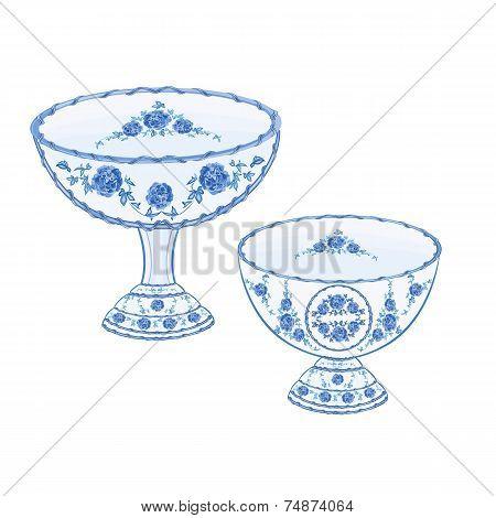 Faience Cups Vector